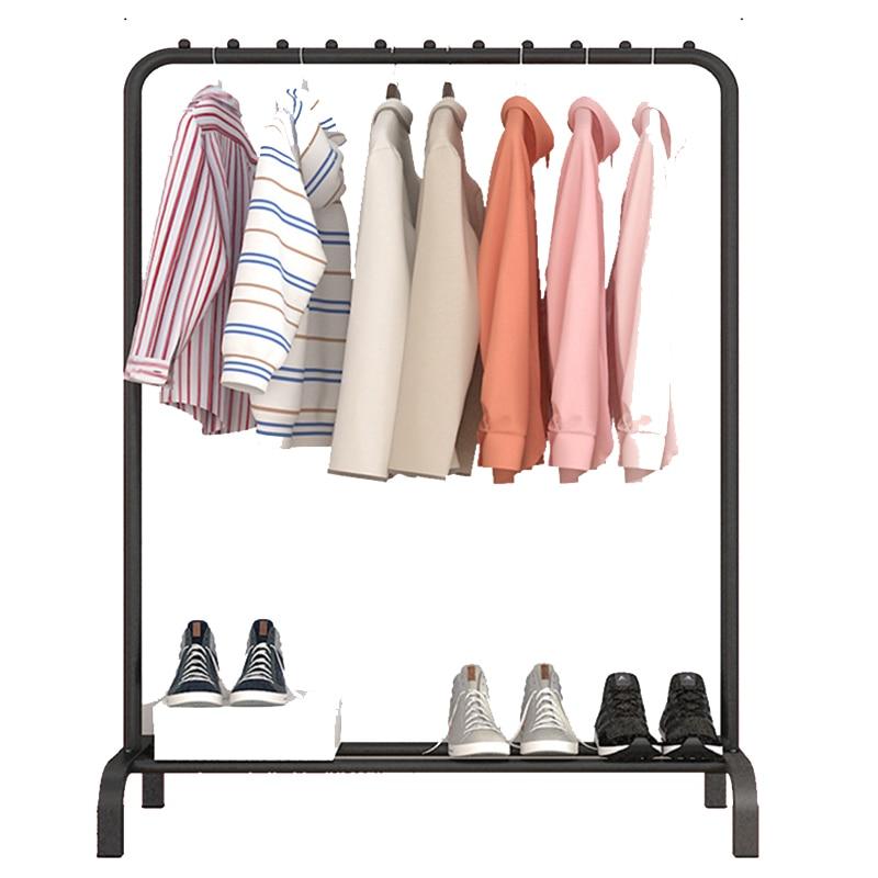 Actionclub, estante de secado de una sola barra, estante de secado de piso, estante de almacenamiento de ropa Simple, estante plegable de ropa interior de balcón