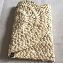 Exquisito Bohemia playa bolsa de damas de paja de verano de punto, bolso mensajero bolsa larga
