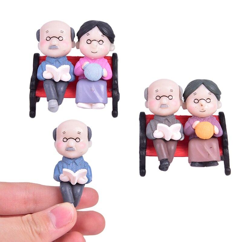 3 pièces/ensemble Style créatif vieux Couple chaise résine artisanat spectacle Simulation Animal Folk artisanat