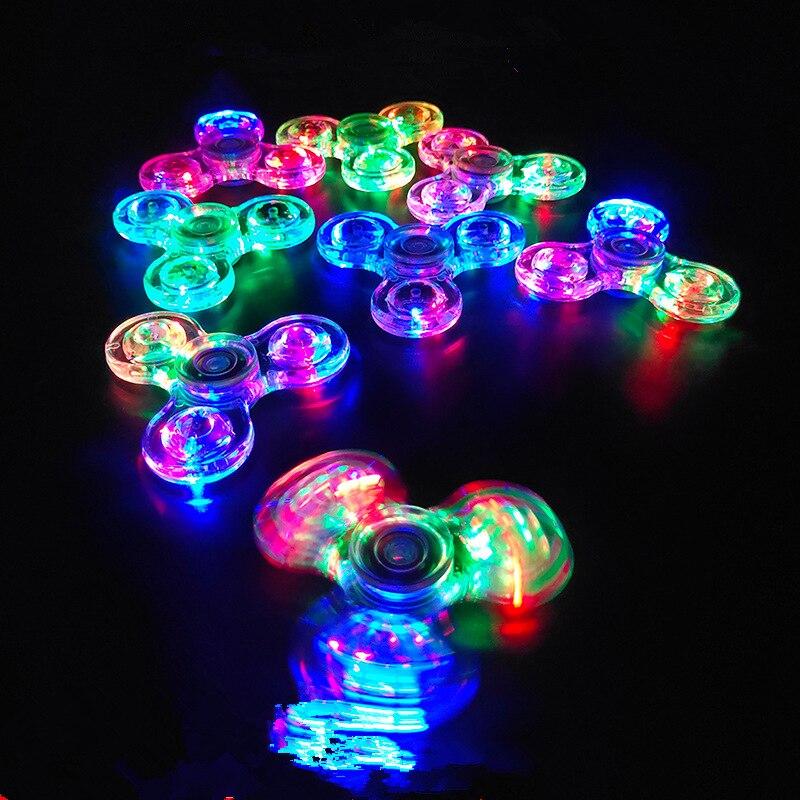 Transparência luminosa do brinquedo do alívio do estresse com a lâmpada o girador da inquietação da luz do diodo emissor de luz