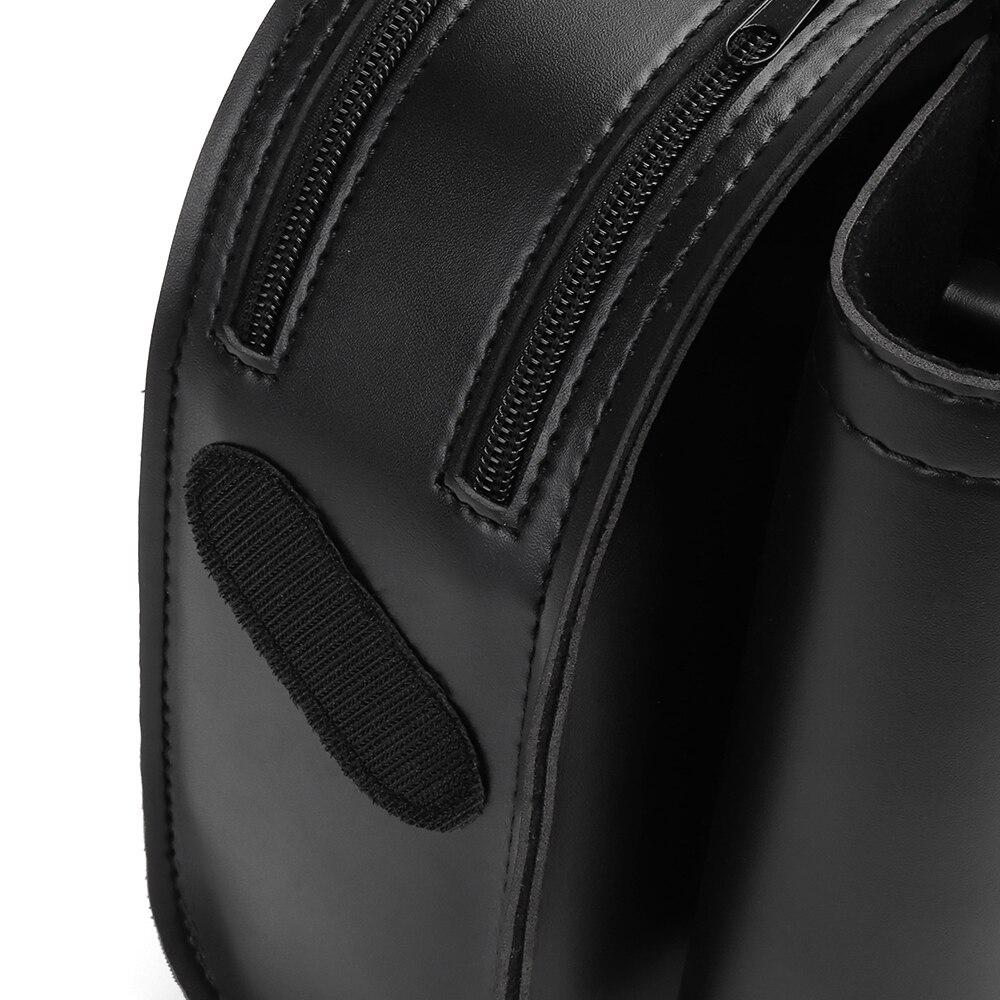 Motorcycle Saddle Bag Leather Crash Bar Saddlebag Guard Bag Waterproof Water Bottle Holder For Road King For Electra Glide
