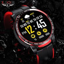 LIGE Men Smart Watch Men Bluetooth Call Waterproof Sports Fitness Watch Health Tracker Weather smart