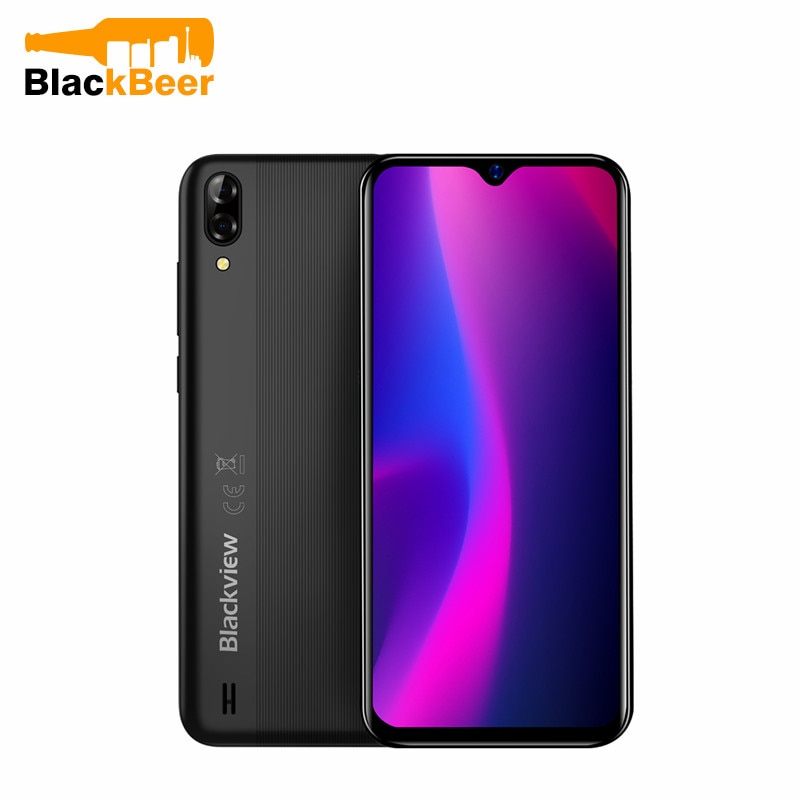 Blackview A60 3G мобильный телефон Android 8,1 смартфон с четырехъядерным процессором 4080 мАч мобильный телефон 2 Гб 16 Гб 6,088 дюйма 19,2: 9 экран Двойная каме...
