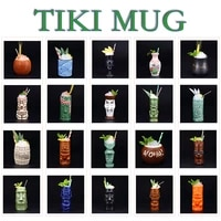 bar tiki mug hawaiian creative bartender cocktail cup wine glass totem cup tiki mug drinking glass bar tools