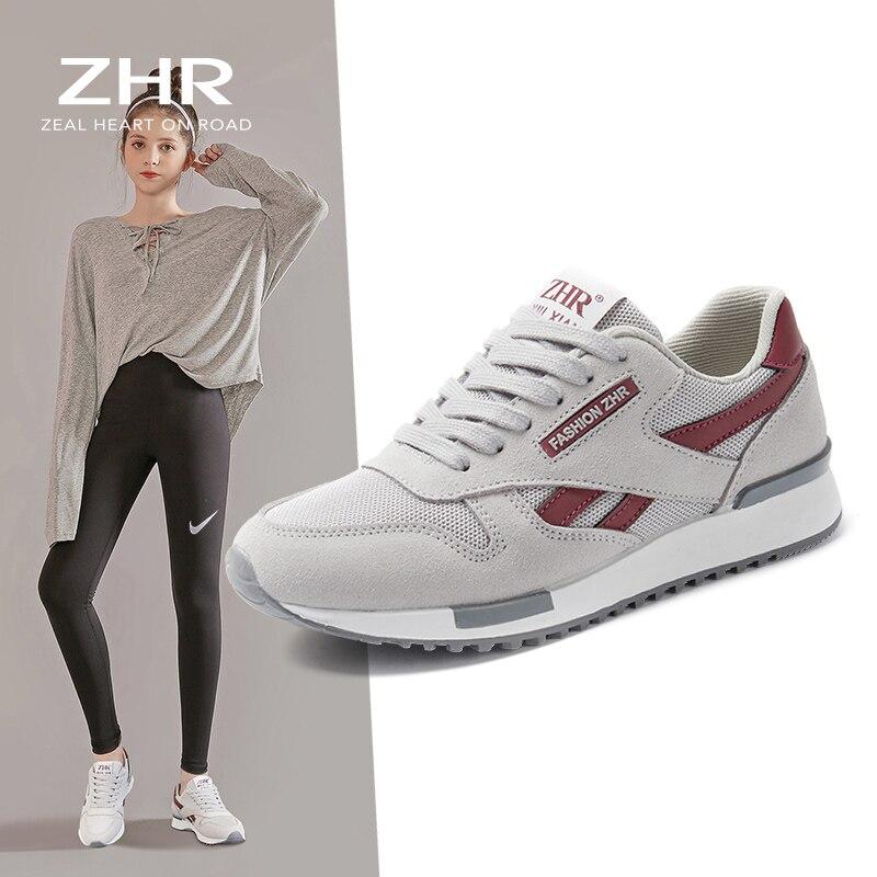 2021 ربيع المرأة أحذية رياضية أحذية رياضية تنس عادية الشقق المدربين خفيفة الوزن موضة السيدات أحذية مفلكنة تشغيل المشي