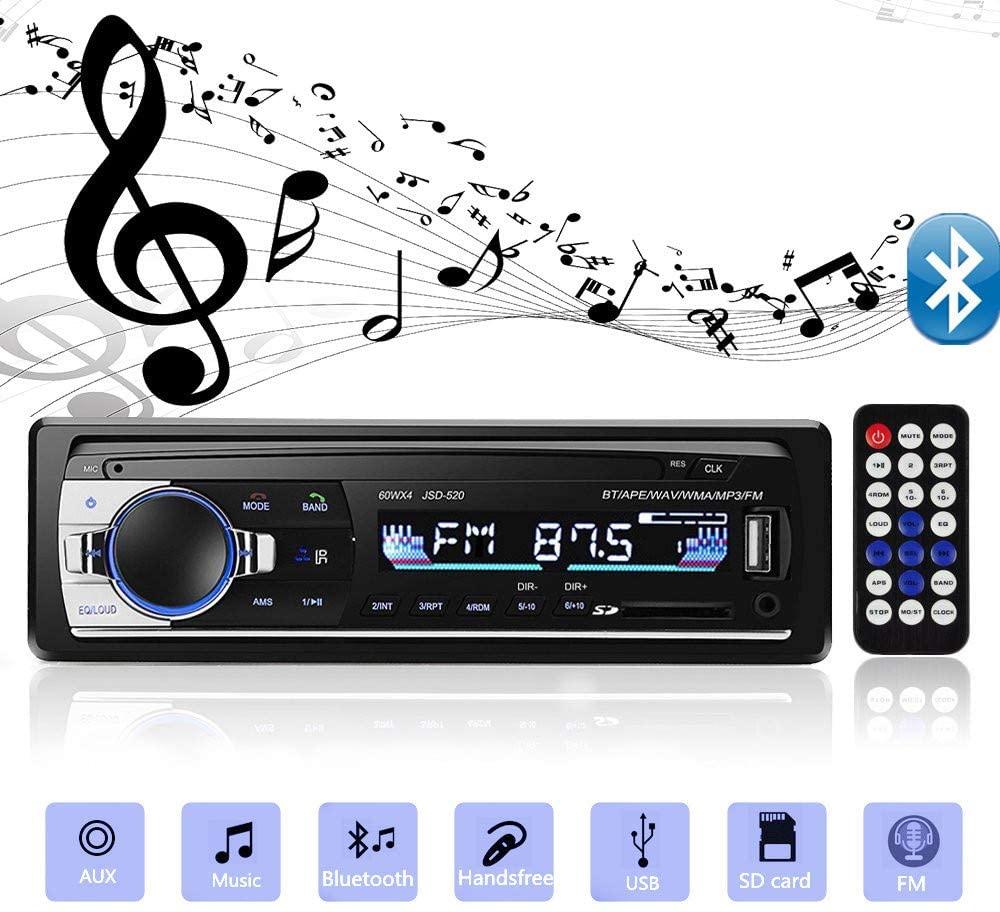 Bluetooth Autoradio Car Stereo Radio FM Aux Input Receiver SD USB JSD-520 12V In-dash 1 din Car MP3 Multimedia Player car auto tape 4 60 w bluetooth usb sd aux car radio stereo player digital bluetooth car mp3 player 60 wx4 fm radio stereo