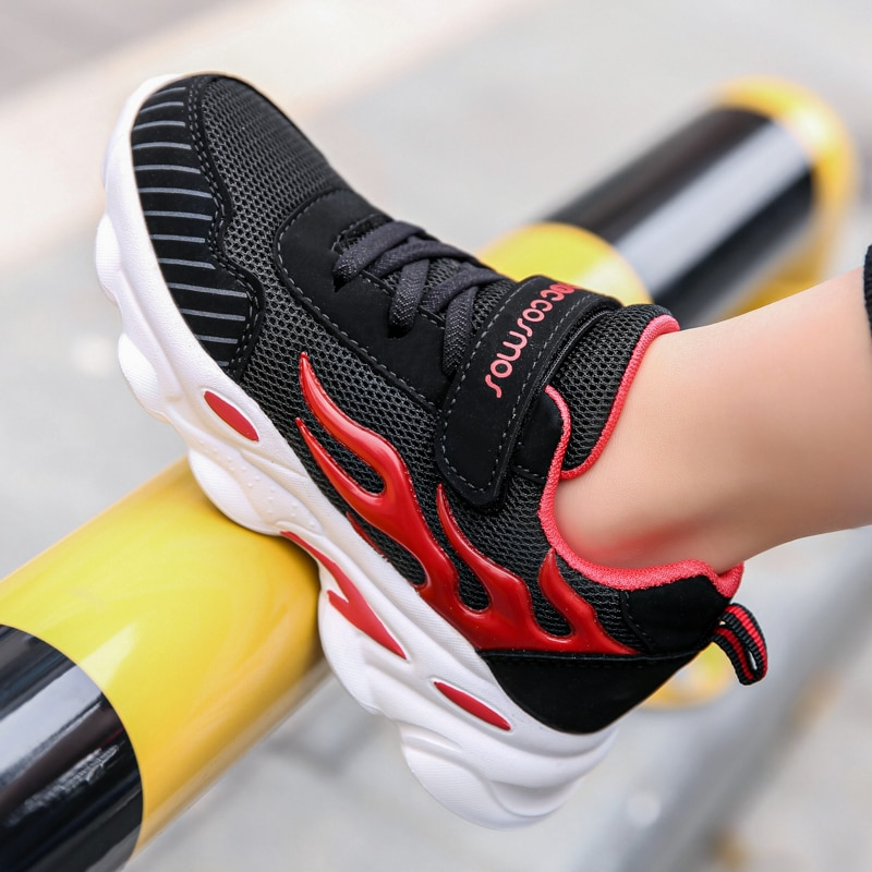 New Hot Fashion Style Children Casual Shoes Mesh Girls Flats Synthetic Boys Sports Comfortable Light