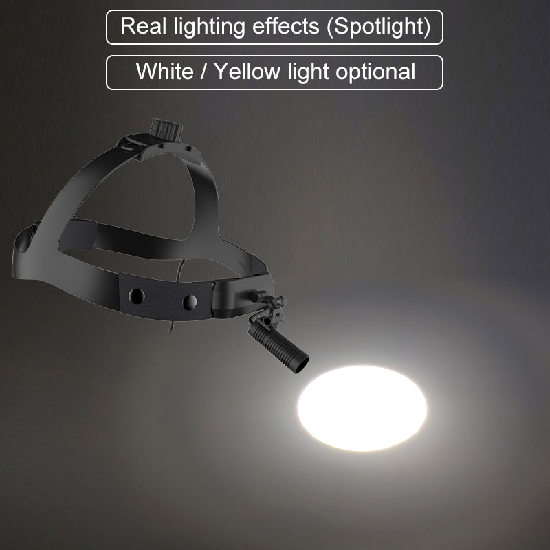 LED Headlamp 50000LUX High Intensity Surgical Headlight for Operation Dental Loupe Magnifer Head Lamp with Rechargeable Battery enlarge