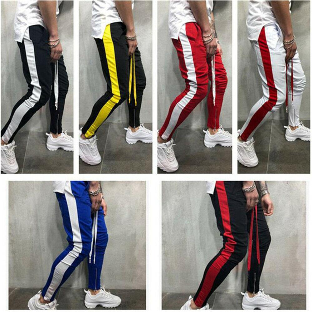 Мужские спортивные брюки, повседневные облегающие брюки, штаны для тренировок, джоггеры, тренировочные спортивные брюки в стиле хип-хоп
