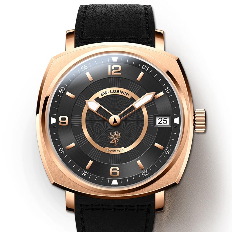 Lobinni-ساعة ميكانيكية للرجال ، إصدار محدود من seagull ، ساعة رجالية حديثة ، تصميم pagani ، عرض خاص ، شحن مجاني ، مجموعة جديدة 2020