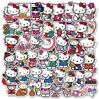 hello kitty cute cartoon character image graffiti sticker luggage water cup waterproof cartoon sticker