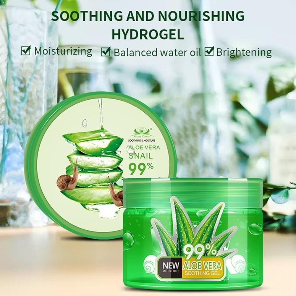 AliExpress - Natural Aloe Vera Gel 150/200/250ml Snail Face Creams Moisturizer Repairing For Skin Treatment Gel Smoothing Acne Cream P2E3