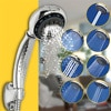 RecabLeght SPA Rain Shower Head 7-Function Adjustable High Pressure Showerhead Bathroom Water Saving Anti-Scaling Rubber Nozzle