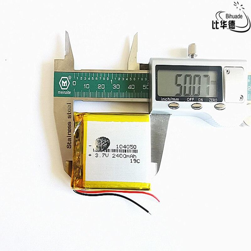 3,7 В литий-полимерный аккумулятор 104050 2400 мАч планшетный ПК навигация Мобильная мощность GIY