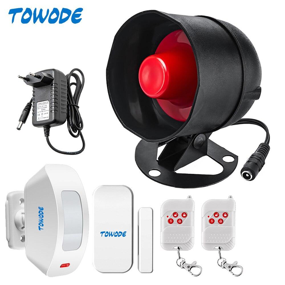 Система сигнализации TOWODE, Автономная, домашняя система охранной сигнализации, 110 дБ