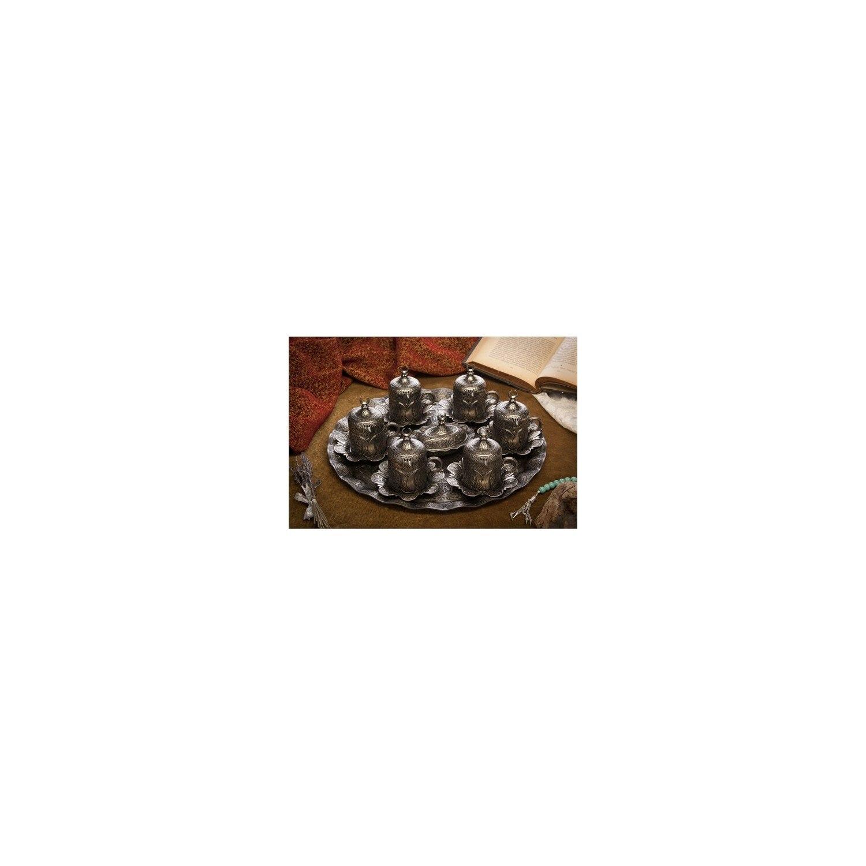 Sena Lalezar 6Lı Kaffee Set Antike Nickel