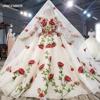 htl0682 multicolor long sleeve flower girl wedding applique print childrens wedding dress 2021 childrens banquet skirt