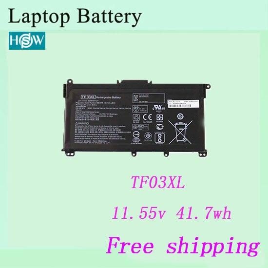 11,55 v 41.7wh batería para HP TF03 TF03XL HSTNN-UB7J HSTNN-LB7X HSTNN-LB7J HSTNN-IB7Y portátil envío gratis