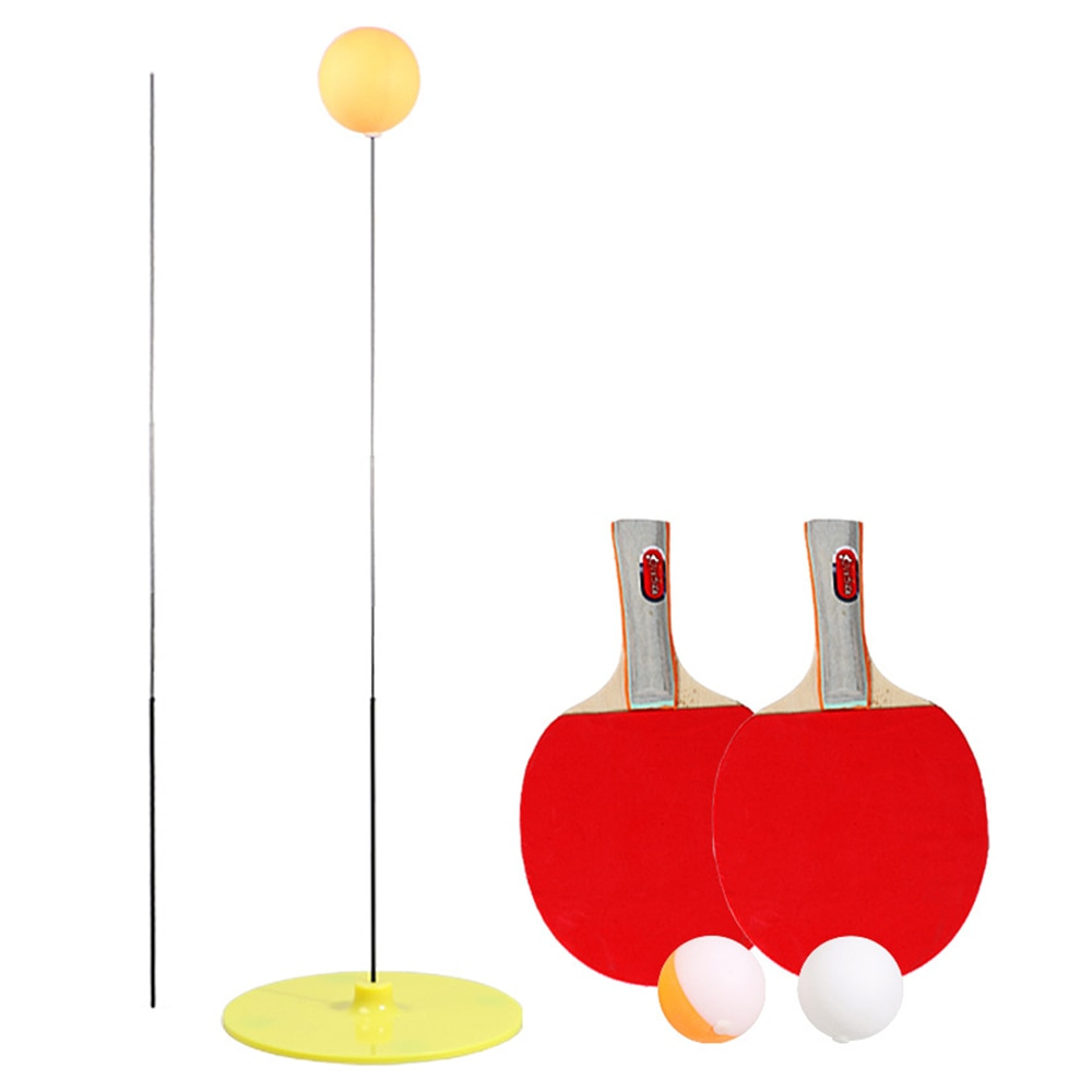 magideal sucker base table tennis stroking training aid trainer action practice machine strong stability and good flexibility Table Tennis Trainer Ping Pong Rackets and Balls Base Training Practice Set Outdoor Or Indoor Exercise