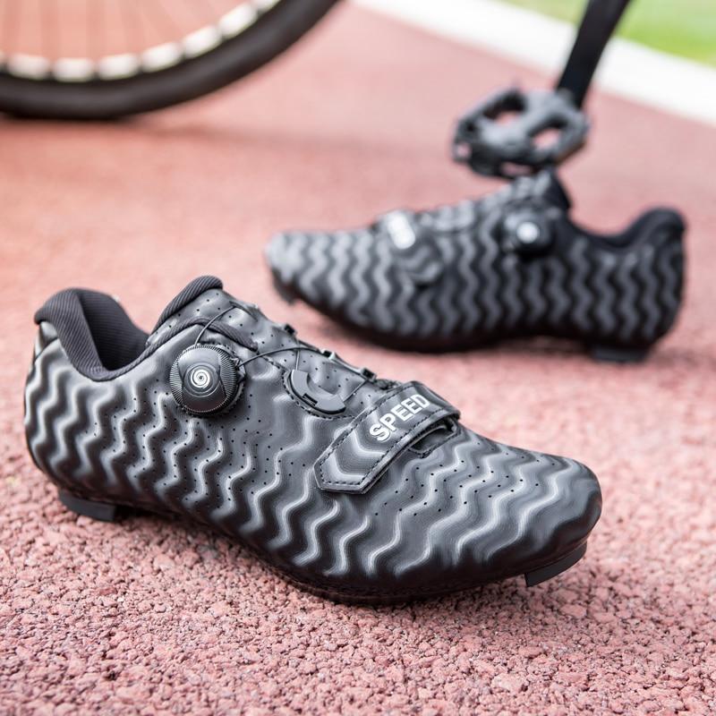 2021 Speed Cycling Flat Shoes MTB Route Men Sports Road Dirt Bike Sneakers Racing Women Bicycle Moun