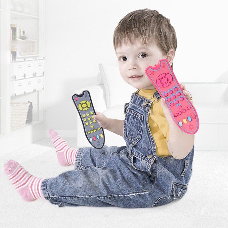 Детские музыкальные игрушки, цветной электрический пульт дистанционного управления для телевизора, Обучающие номера, Игрушки для раннего ...