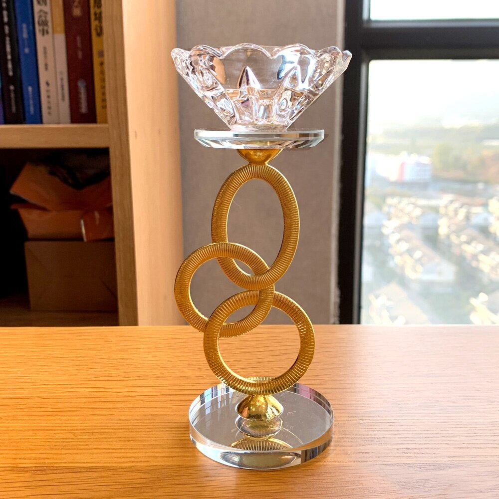 Candelabros de cristal con forma de cuenco Feng Shui para candelabros, centros de mesa para boda, Bar o fiesta, Decoración de mesa