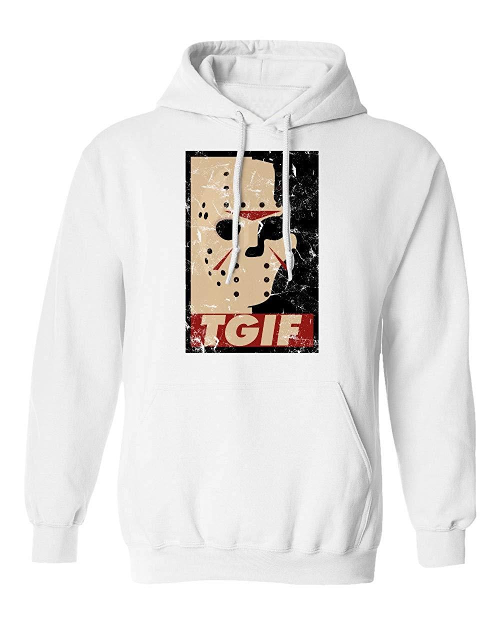 Nueva novedad, camiseta Vorhees, camiseta de TGIF Jason Horror pesadilla para Halloween, Sudadera con capucha para hombres, sudadera para hombres y mujeres