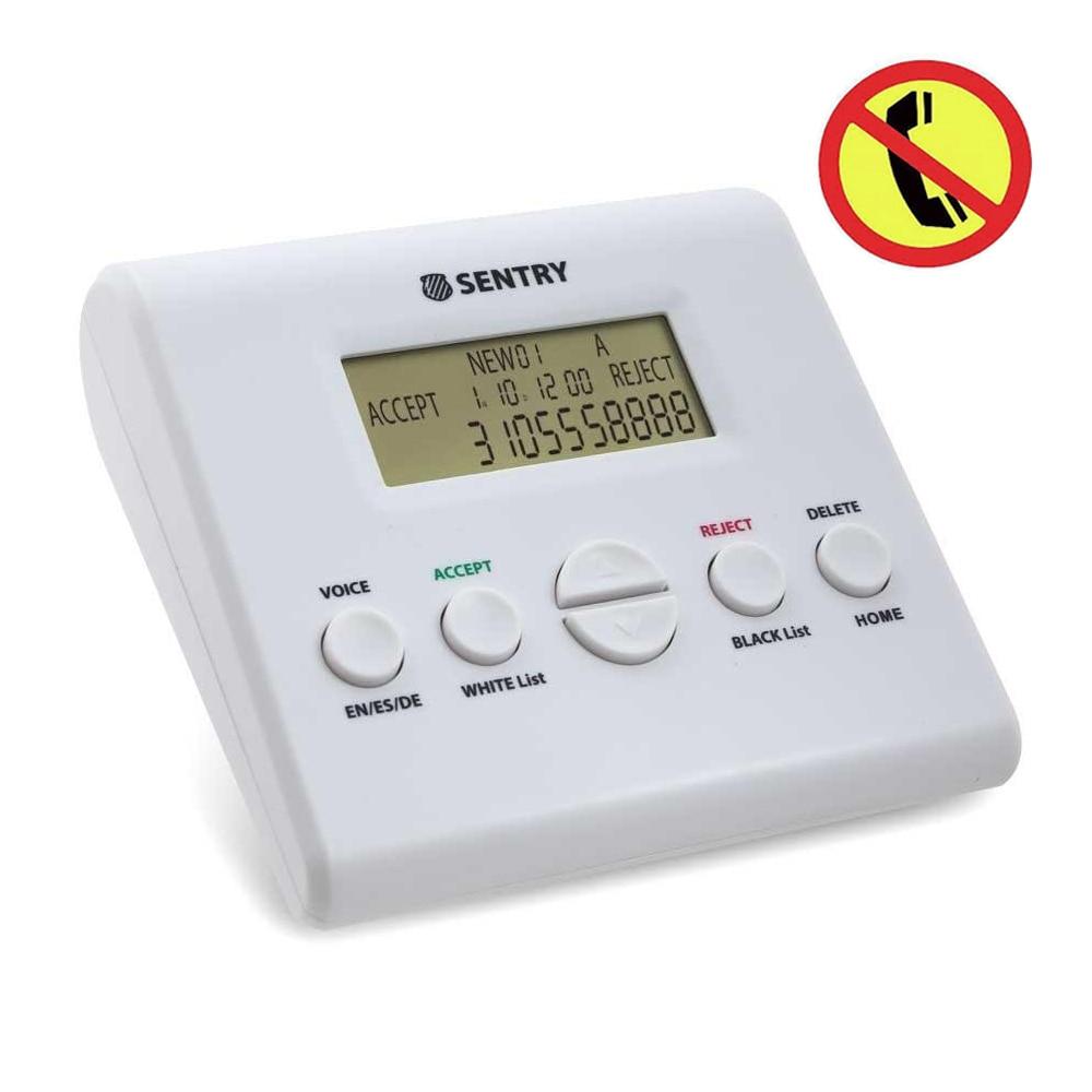 Bloqueador de llamadas Sentry V2.0 para teléfonos fijos, bloqueador de llamadas inteligentes lista negra, bloquear todas las llamadas de Spam, llamadas no deseadas