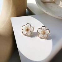oeing beautiful flowers earrings for women designer luxury jewelry high quality s925 needle wedding jewelry