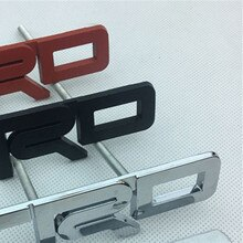 mix 3 sets Car Styling 12.3*3.5cm metal alloy Plating TRD Emblem Car Front Grills badge logos Silver Red Black