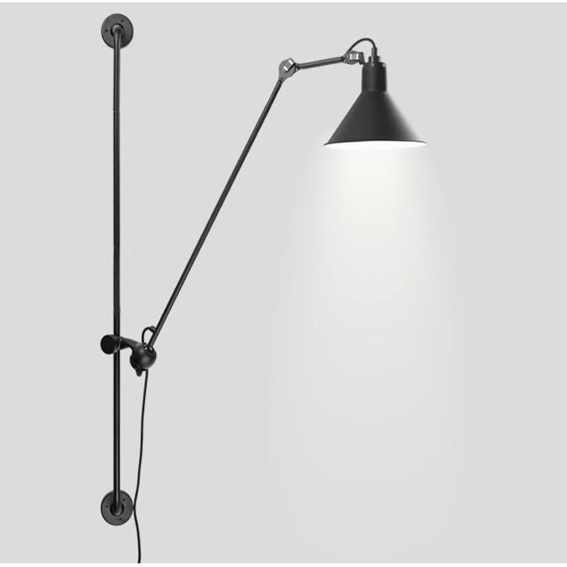Американский Ретро промышленный вращающийся светодиодный настенный светильник большой размер 120 СМ Металлическая настенная лампа Led Bing ...