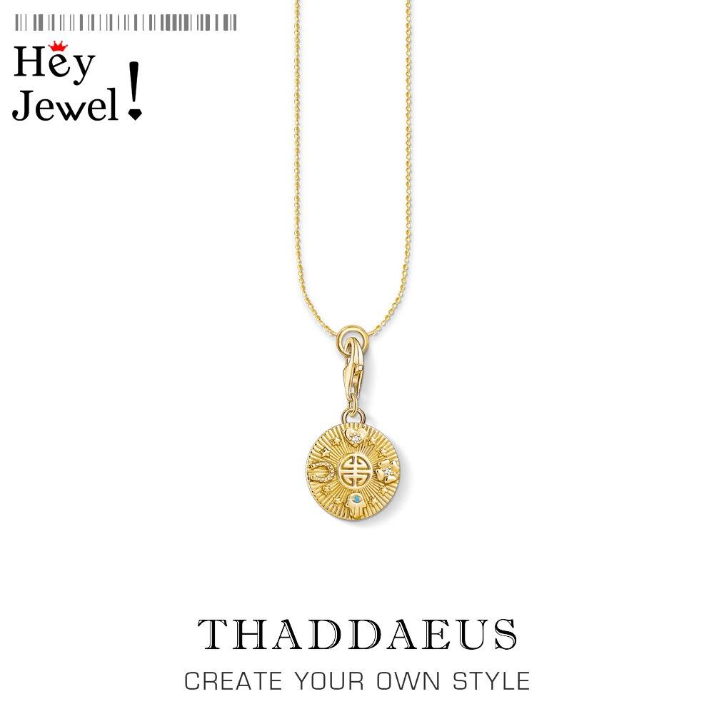 Ожерелье-с-подвеской-«Счастливая-монета»-новые-изящные-ювелирные-украшения-зимой-2021-года-Европейское-Серебро-925-пробы-бижутерия-подарок