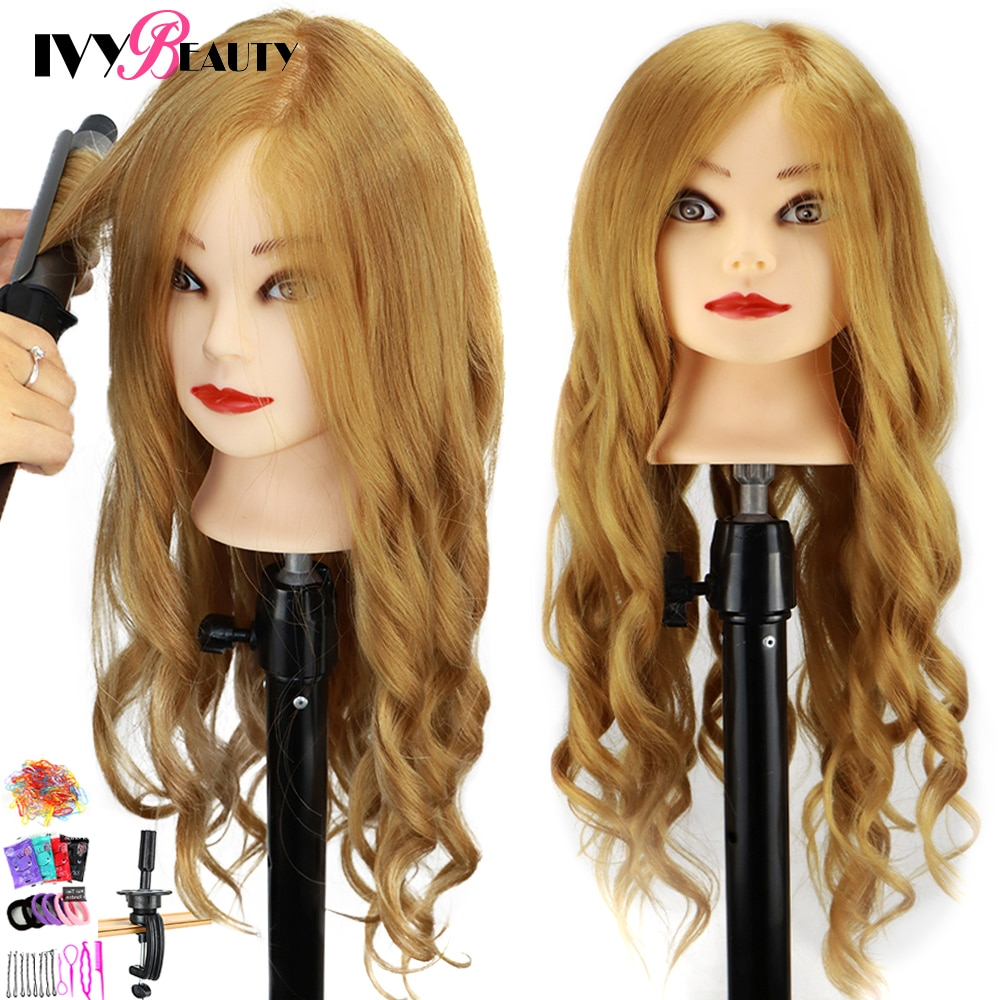 Female Mannequin Training Head And Stand For Hairdressers Hairstyles 85% Human Hair Training Head For Braid Hairdressing Head head head supershape i rally sw mfpr prd 12 gw brake 85 [f] 18 19 размер 177