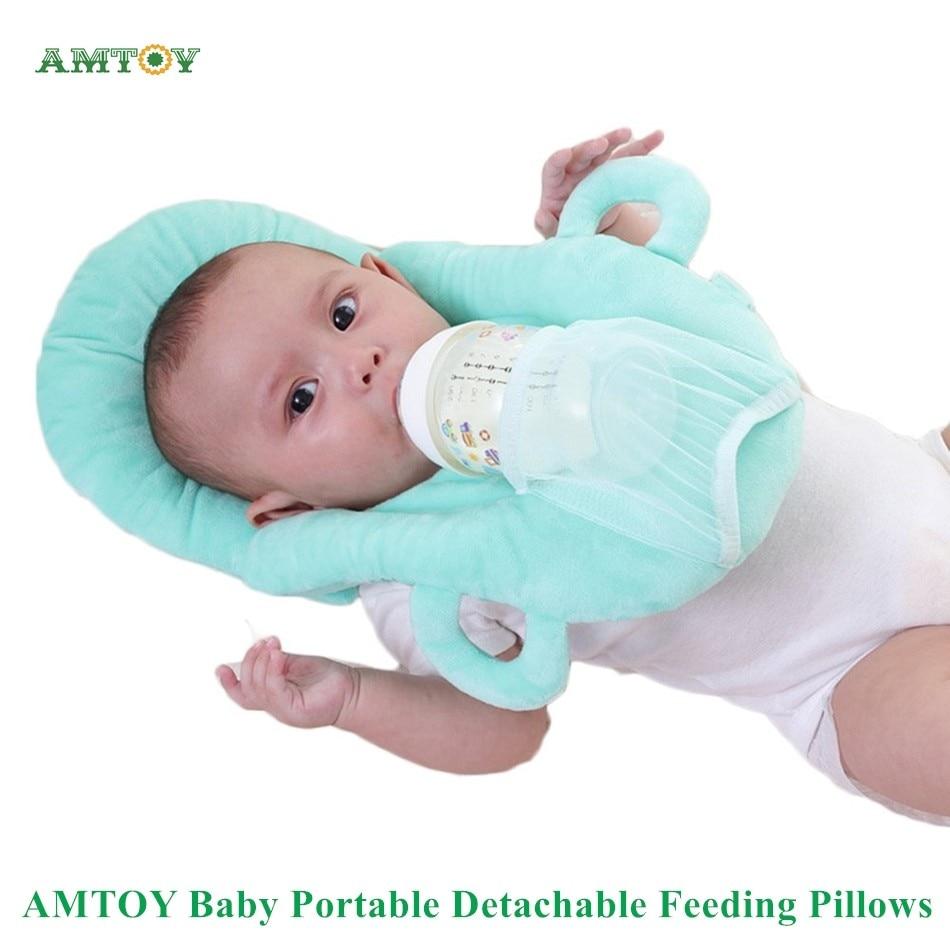 Портативные съемные детские подушки для кормления, мягкие из ПП хлопка, 4 цвета, поддержка самостоятельного кормления, детская подушка для к...