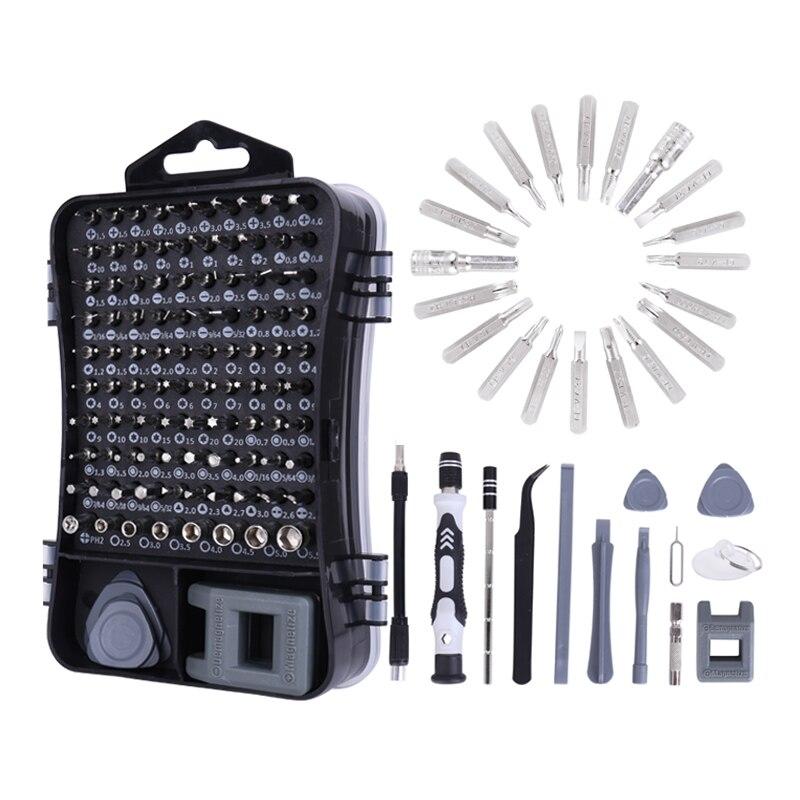 Juego de destornilladores de precisión Yalku 25/111 en 1, brocas de destornillador, herramientas de mano, miniherramientas magnéticas multiherramienta, herramienta de reparación