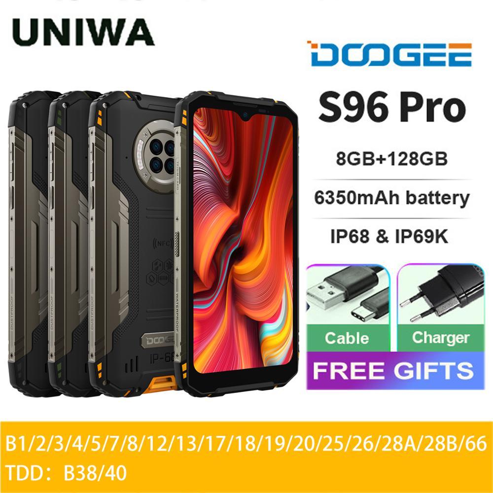 DOOGEE S96 Pro 8GB+128GB Rugged Phone 48MP Camera 20MP Infrared Night Vision Smartphone Helio G90 6350mAh Waterproof Octa Core