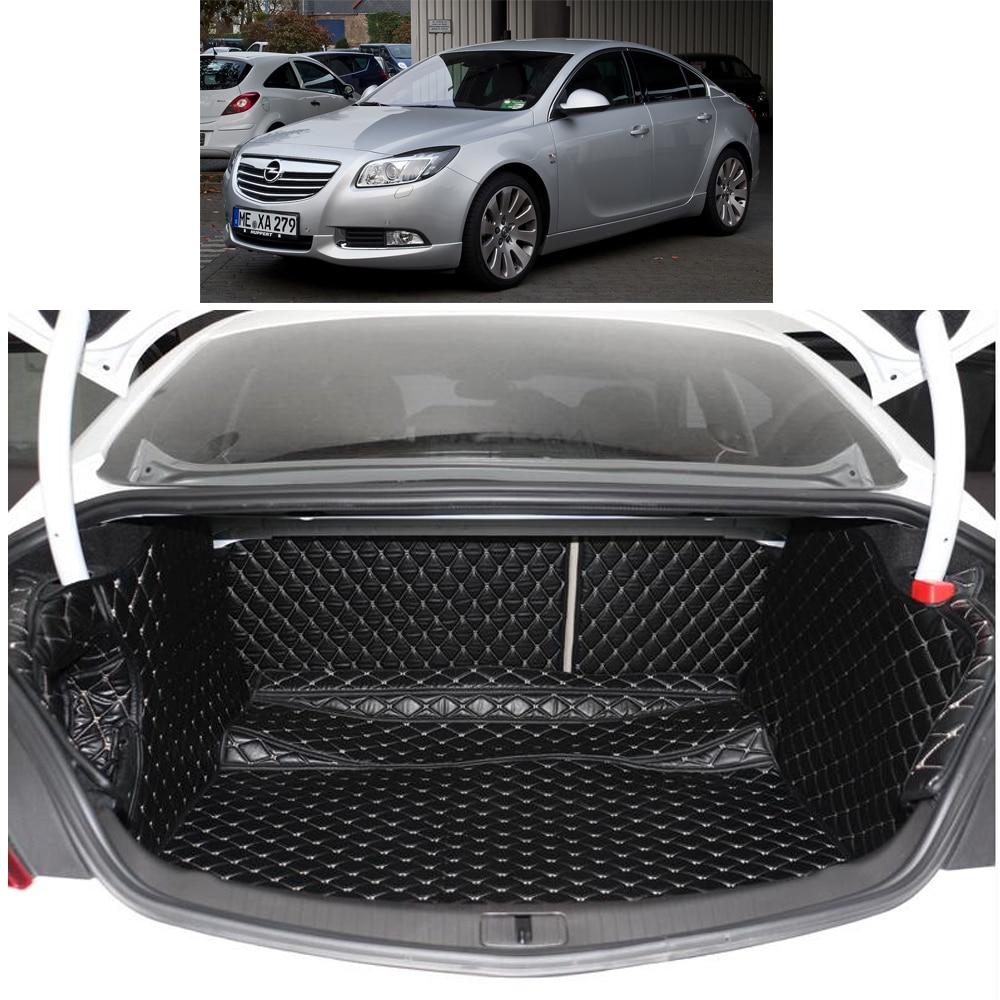 Lsrtw2017, estera de fibra de cuero para maletero de coche para buick regal 2011 2012 2013 2014 2015 2016 2017 opel insignia