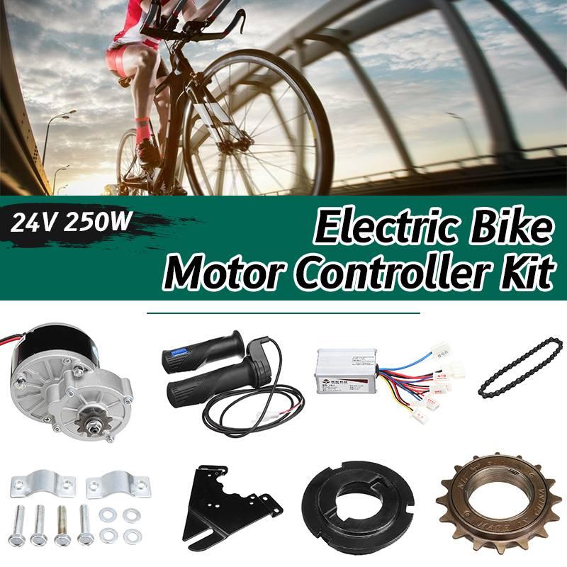 Regulador de Motor de escúter de conversión de bicicleta eléctrica 24V 250W para 22-28 accesorios de bicicleta ordinaria
