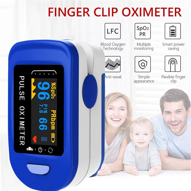 Medical Household Digital LED displayFingertip pulse Oximeter Blood Oxygen Saturation Meter Finger SPO2 PR Monitor health Care
