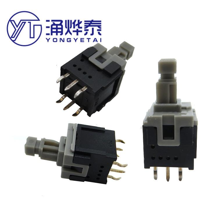 yyt 5 pces 10x109x205 sem interruptor de botao de bloqueio esb30b333 interruptor de botao 6pin