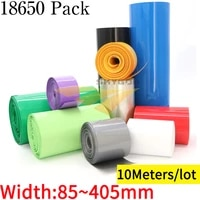 10m pvc heat shrink tube width 85 mm 400 mm 18650 lithium battery pack insulated film wrap li ion case cable sleeves sheath