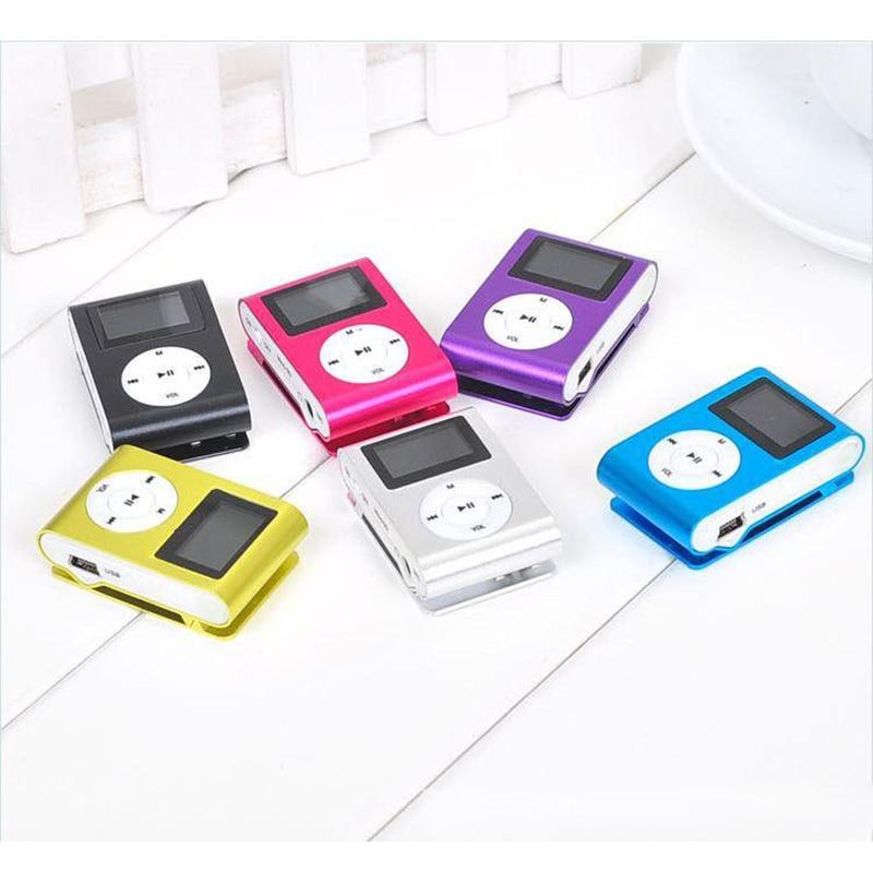 New Top SALE Fashion Mini 32G Mp3 USB Clip MP3 Player LCD Screen Support 32GB Micro SD TF CardSlick