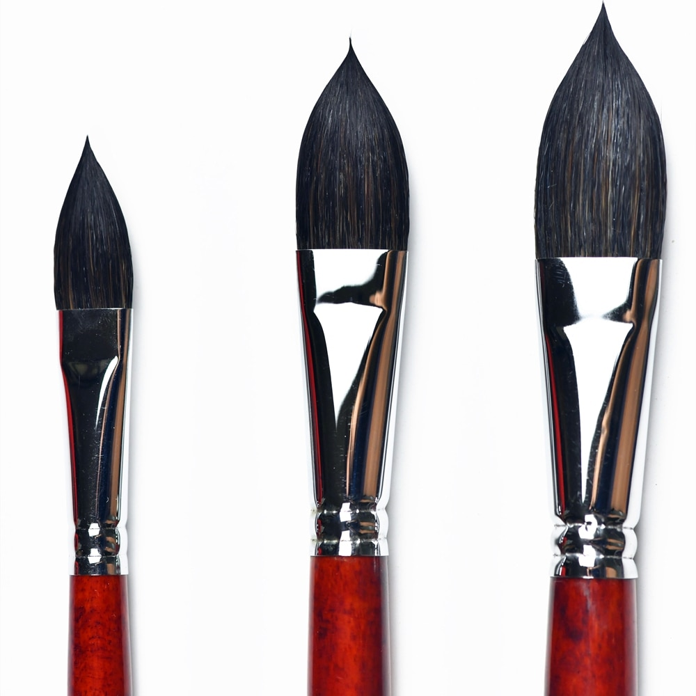 1PC High Quality Squirrel Mix Hair Wooden Handle Watercolor Artist Art Supplies Paint 666OVAL Brush Pen For Professional Drawing