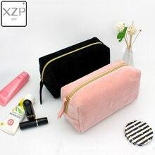 XZP multifonction voyage cosmétique sac femmes maquillage sacs articles de toilette organisateur couleur unie femme rangement trousse à maquillage nécessaires