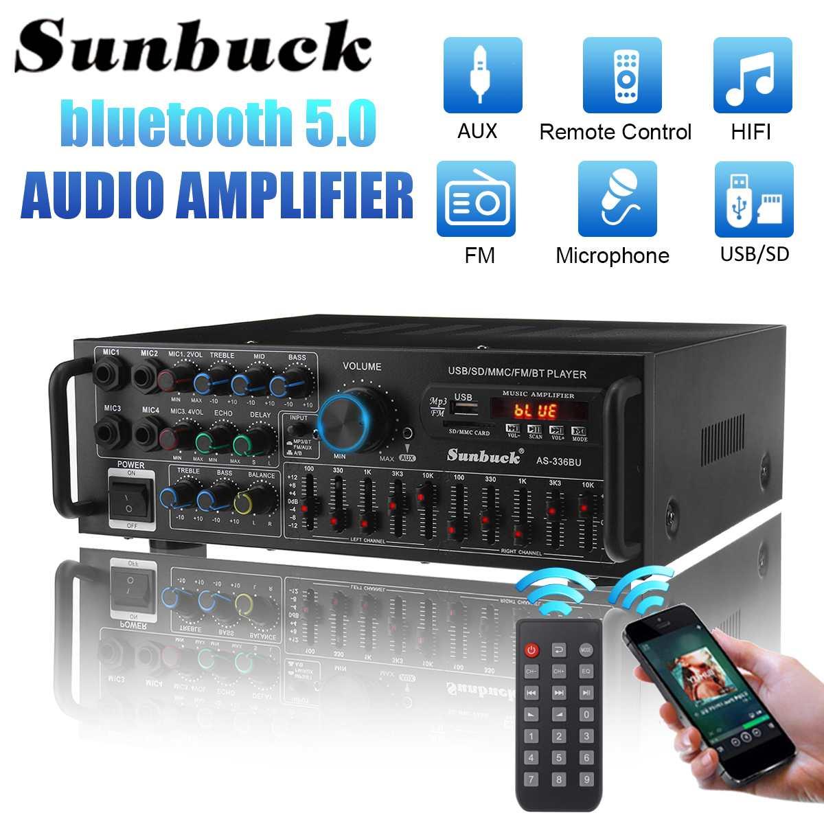1200W coche Amplificador HIFI 2 CH Amplificador DE POTENCIA DE Audio 12/220V...