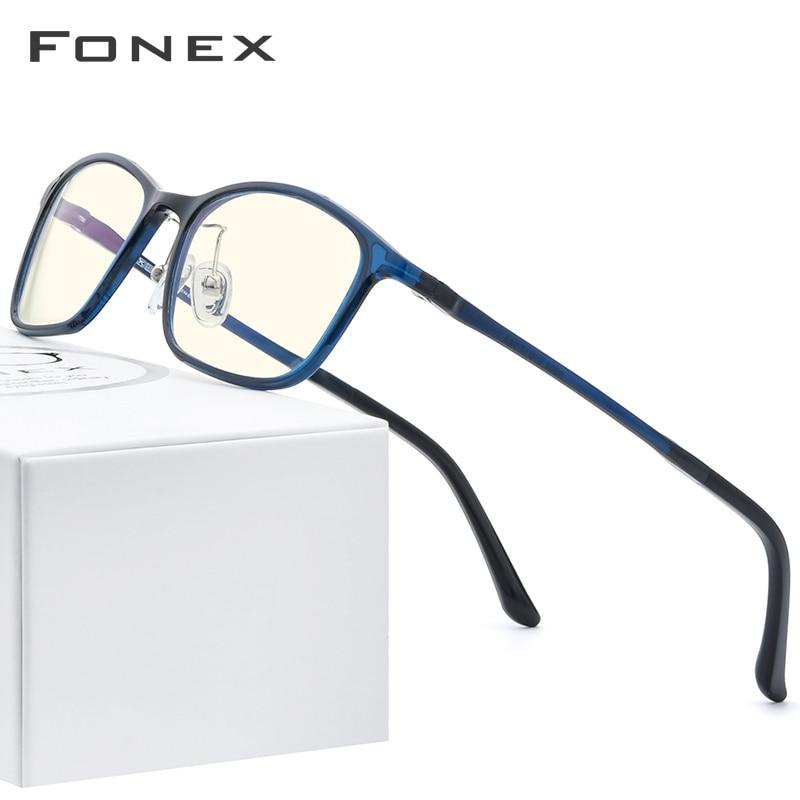 FONEX Ultem TR90 lunettes Anti-lumière bleue   Lunettes pour hommes, lunettes de protection antibleues, lunettes de jeu pour ordinateurs femmes AB03