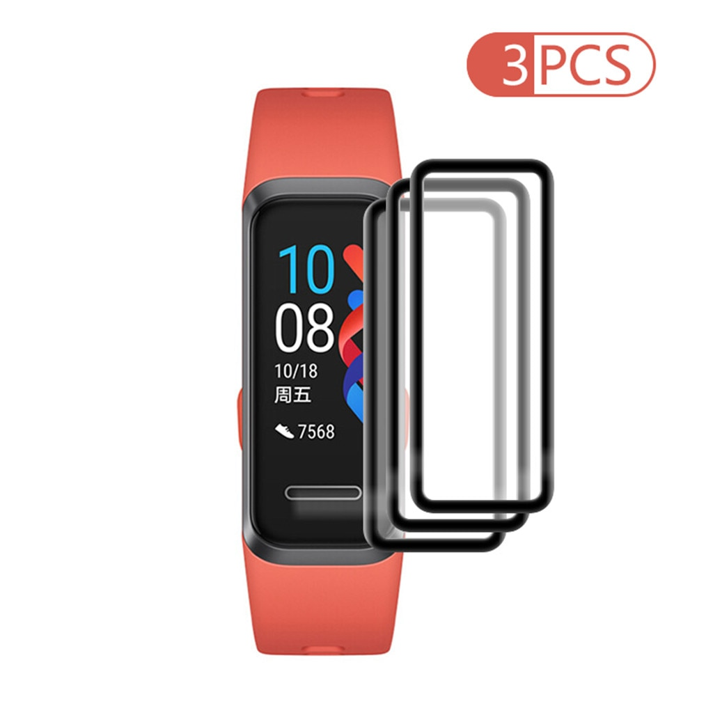 top selling product 2020 3PCS Clear Ultra Film Tempered PET Soft Screen Protector for Huawei band 4/