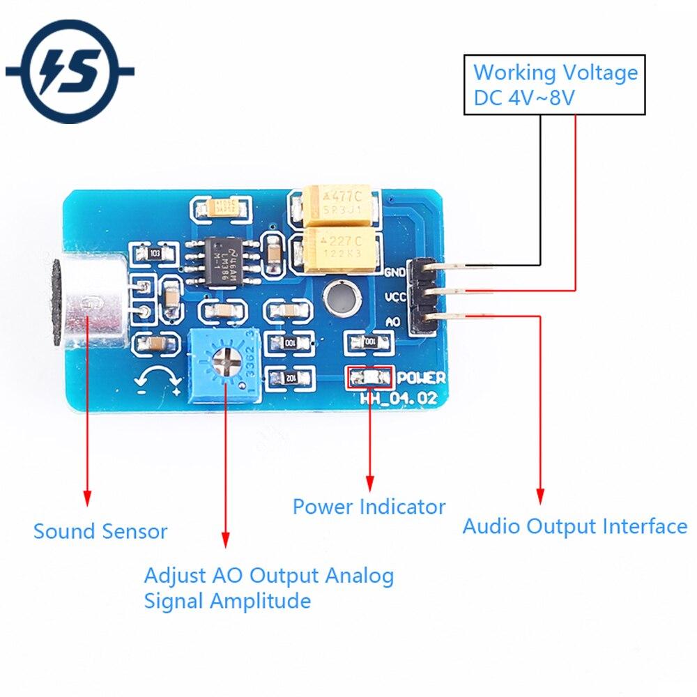 Звуковой датчик для Arduino, звуковой вых�