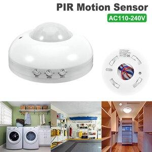 110-240V PIR Infrared Motion Sensor Detector Switch Light Sensor Security Human Body Motion Inductor Switch for Indoor Lighting
