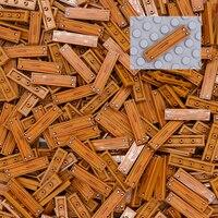 Плитка с принтом города 1x4 Строительные блоки Друзья сад дом части деревянный гвоздь узор аксессуары кубики MOC игрушки для детей